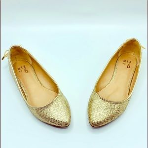 Mix No. 6 Vigowia GOLD Ballet Flat toe flats 7.5